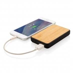 Bambusowy power bank 5000 mAh