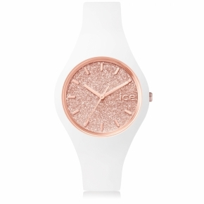 Zegarek ICE glitter-White Rose-Gold-Small