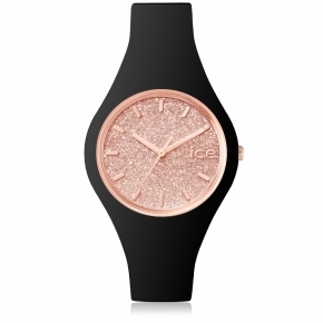Zegarek ICE glitter-Black Rose-Gold-Small